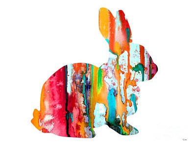 Painting - Rabbit by Watercolor Girl
