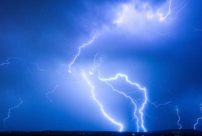 Rabbit Mountain Area Lightning Strikes Boulder County Art Print by James BO  Insogna