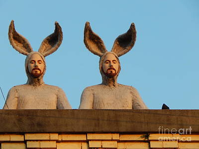 Photograph - Rabbit People On A Rooftop In New Orleans Louisiana by Michael Hoard