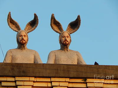 Photograph - Rabbit People On The Roof In New Orleans by Michael Hoard