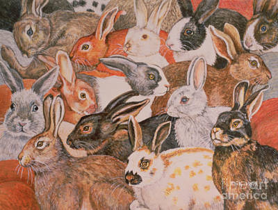 Rabbit Painting - Rabbit Spread by Ditz