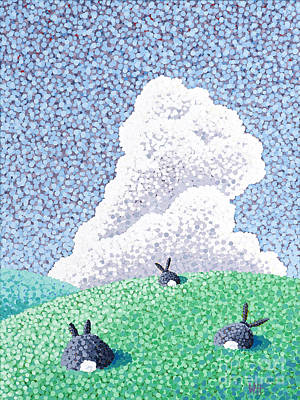 Painting - Rabbits At Rest by Wayne Hardee
