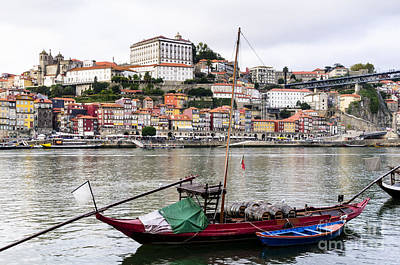 Wine Photograph - Rabelo Boat At Porto by Oscar Gutierrez