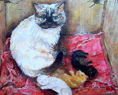 Painting - Rabia's Kitties by Lou Ann Bagnall