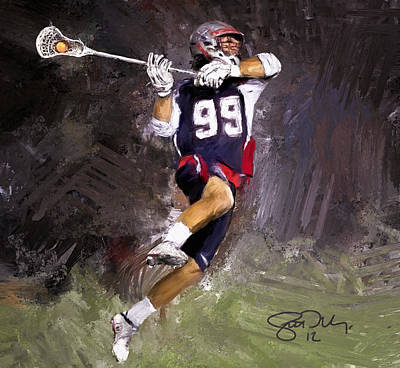 Scott Melby Painting - Rabil Lacrosse by Scott Melby