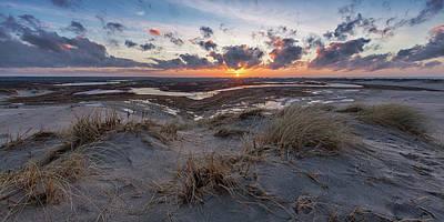 Coast Wall Art - Photograph - Ra?bjergmile Sun Down. by Leif L?ndal