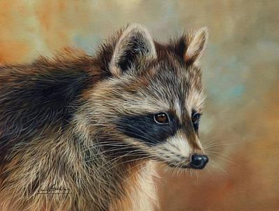 Raccoon Wall Art - Painting - Raccoon by David Stribbling