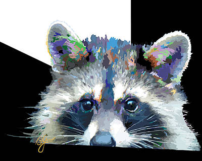 Raccoon Mixed Media - Raccoon Losp by Bonnie Griest