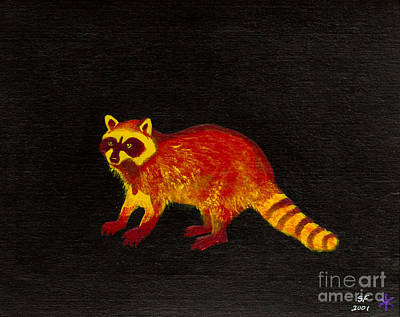 Raccoon Art Print by Stefanie Forck