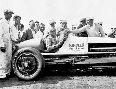 Indianapolis 500 Photograph - Race Car Driver Ray Keech by Underwood Archives