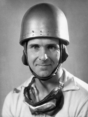 Head And Shoulders Photograph - Race Car Driver by Underwood Archives