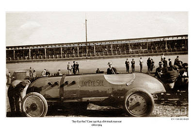 Photograph - Race Car Jay-eye-see Auto Built By Jerome Increase Case 1914 by California Views Archives Mr Pat Hathaway Archives