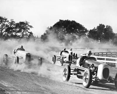 Film Still Photograph - Race Car Scene by Madison Lacy