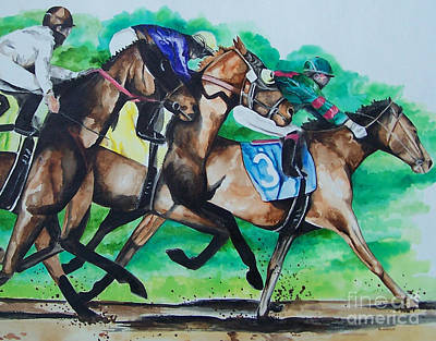 Painting - Race Day by Kathy Laughlin