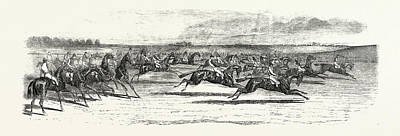 Race Horse Drawing - Race Horses Starting At The Derby by English School