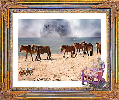 Race Horse Digital Art - Race Of A Lifetime by Betsy Knapp
