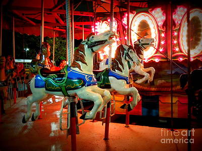 Photograph - Race Of The Carousel Horses by Renee Trenholm