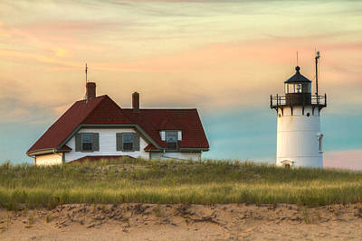 Photograph - Race Point Light At Sunset by Brian Caldwell