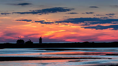 Photograph - Race Point Light Sunset by Bill Wakeley