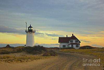 Race Point Lighthouse At Sunset Art Print