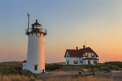 Race Point Lighthouse Art Print by Bill Wakeley