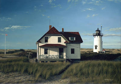 Cape Cod Painting - Race Point Lighthouse by Julia O'Malley-Keyes