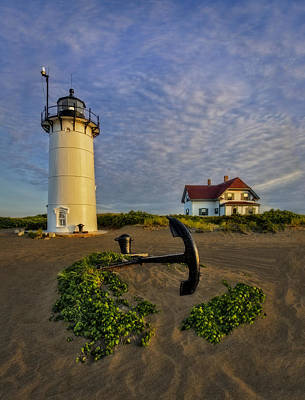 Race Point Lighthouse Art Print by Susan Candelario