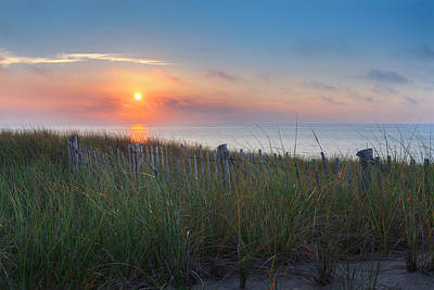 New England Landscapes Photograph - Race Point Sunset by Bill Wakeley