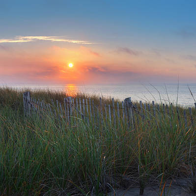 Cape Cod Sunset Photograph - Race Point Sunset Square by Bill Wakeley