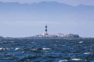 Race Rocks Lighthouse Is Situated Art Print by Debra Brash