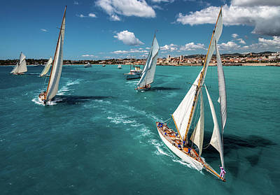 Sail Wall Art - Photograph - Race Start by Marc Pelissier