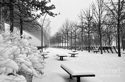 Photograph - Race Street Pier - Snow Covered by Andrew Dinh