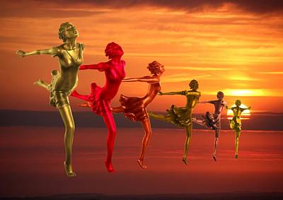 Digital Art - Race The Sunset by Ed Lukas