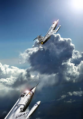 Vintage Warbirds Digital Art - Race To The Sun by Peter Chilelli