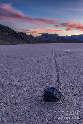 Race Track Death Valley Art Print by Jerry Fornarotto
