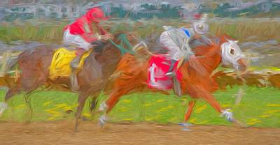 Photograph - Raceabstracted by Alice Gipson