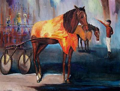 Harness Racing Painting - Race's End by William Gabel