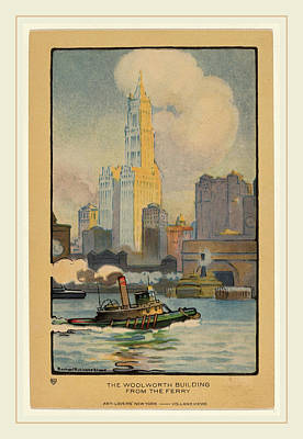 Elmer Drawing - Rachael Robinson Elmer, The Woolworth Building by Litz Collection