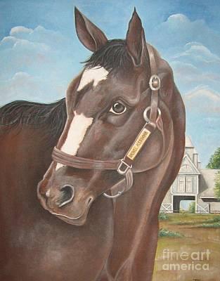 Harness Racing Painting - Rachel Alexandra At Stonestreet Farms by Patrice Torrillo