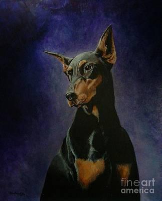 Doberman Pinscher Puppy Painting - Rachel by Ace Robst Jr