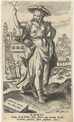 Rachel, Jan Collaert II, Philips Galle Print by Jan Collaert (ii) And Philips Galle And Cornelis Kiliaan