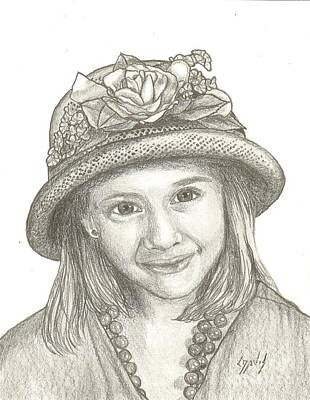 Drawing - Rachel by Lew Davis