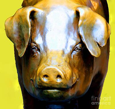 Rachel - Pike Market Piggy Bank Seattle Washington  Art Print