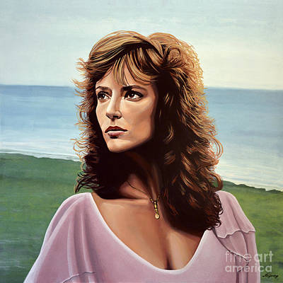 On The Beach Painting - Rachel Ward by Paul Meijering