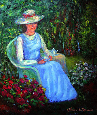 Painting - Rachel's Secret Garden by Glenna McRae