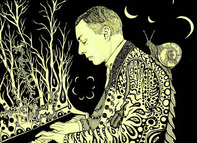Drawing - Rachmaninoff, 2016 by Dariya Hlazatova