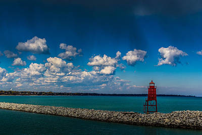 Photograph - Racine Harbor Lighthouse by Randy Scherkenbach
