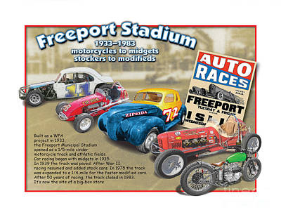 Racing At Freeport Art Print by Dan Knowler