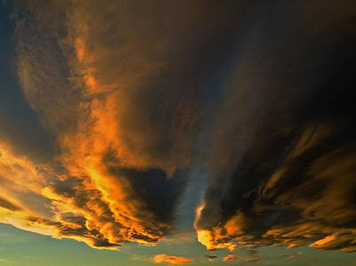 Photograph - Racing Clouds by Jeff Gater