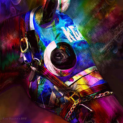 Digital Art - Racing Colors by Kari Nanstad
